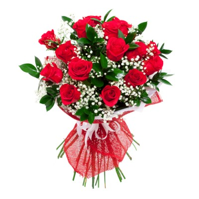 (9.83VB13) Red Rose Bouquet