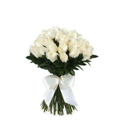 (22WR04) White Roses Bouquet