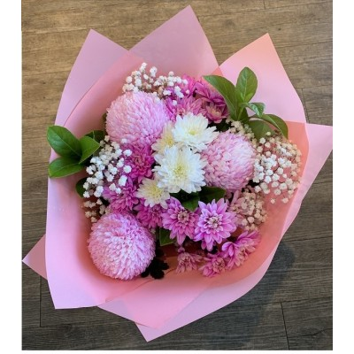 R12  Pink Bouquet  | Florist Bella Vista | Stylish Blooms