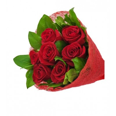 R08 8 Red Rose Bouquet